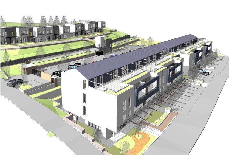 Le projet comporte 49 logements sociaux (maisonnettes et petit immeuble), ainsi qu'une crèche de 20 places.