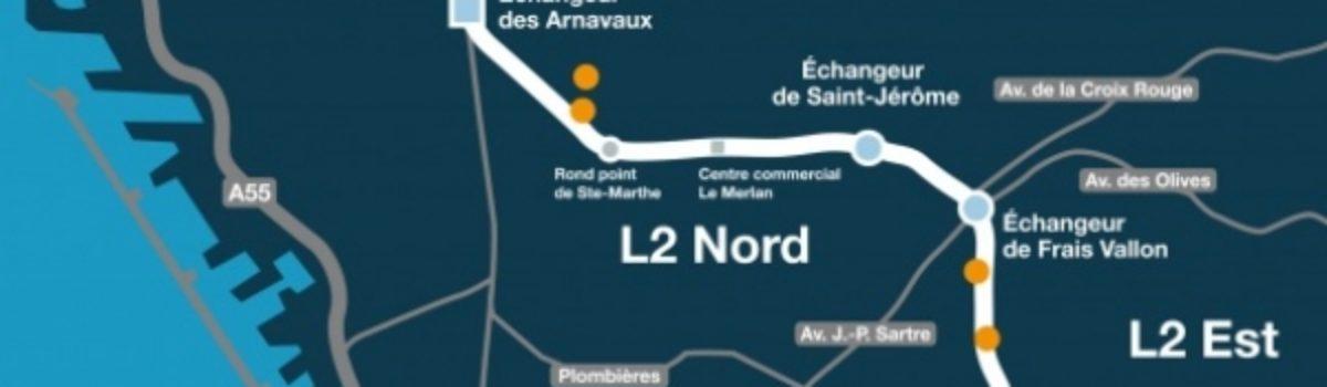Marseille: Une ouverture partielle de la L2 Est le mardi 29 novembre ?