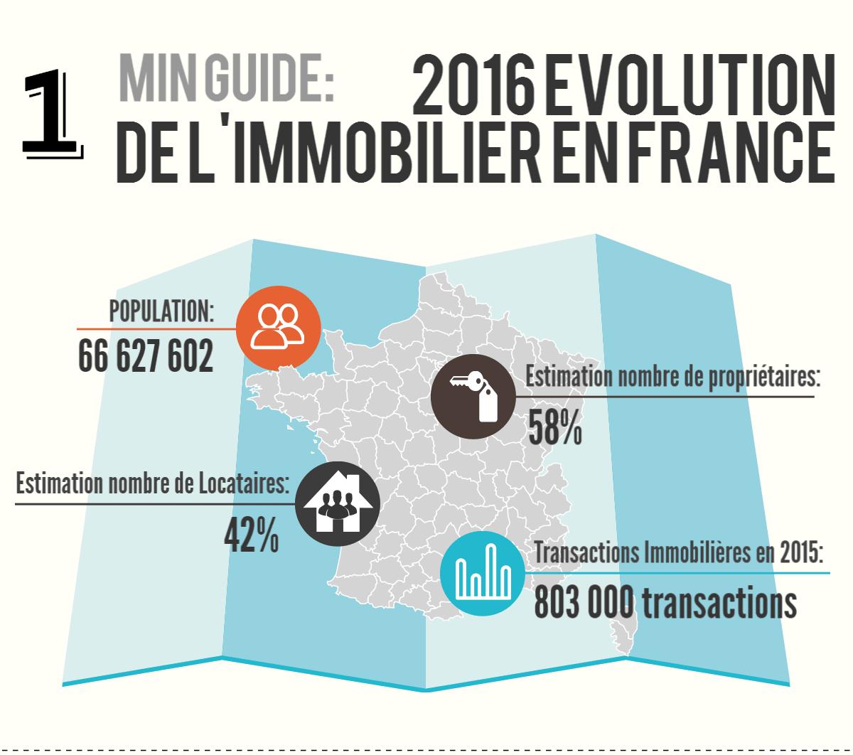Infographie: Aperçu du marché de l'immobilier en France en 2015